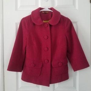 Boden Fuscia Berry Boucle Coat